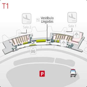 plano terminal 1 barajas